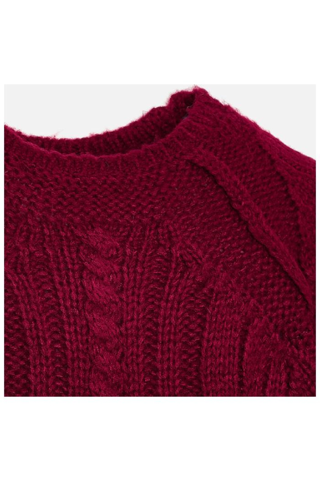 Mayoral Raspberry Knit Sweater - Side Cropped Image