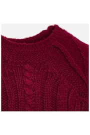 Mayoral Raspberry Knit Sweater - Side cropped