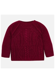 Mayoral Raspberry Knit Sweater - Product Mini Image