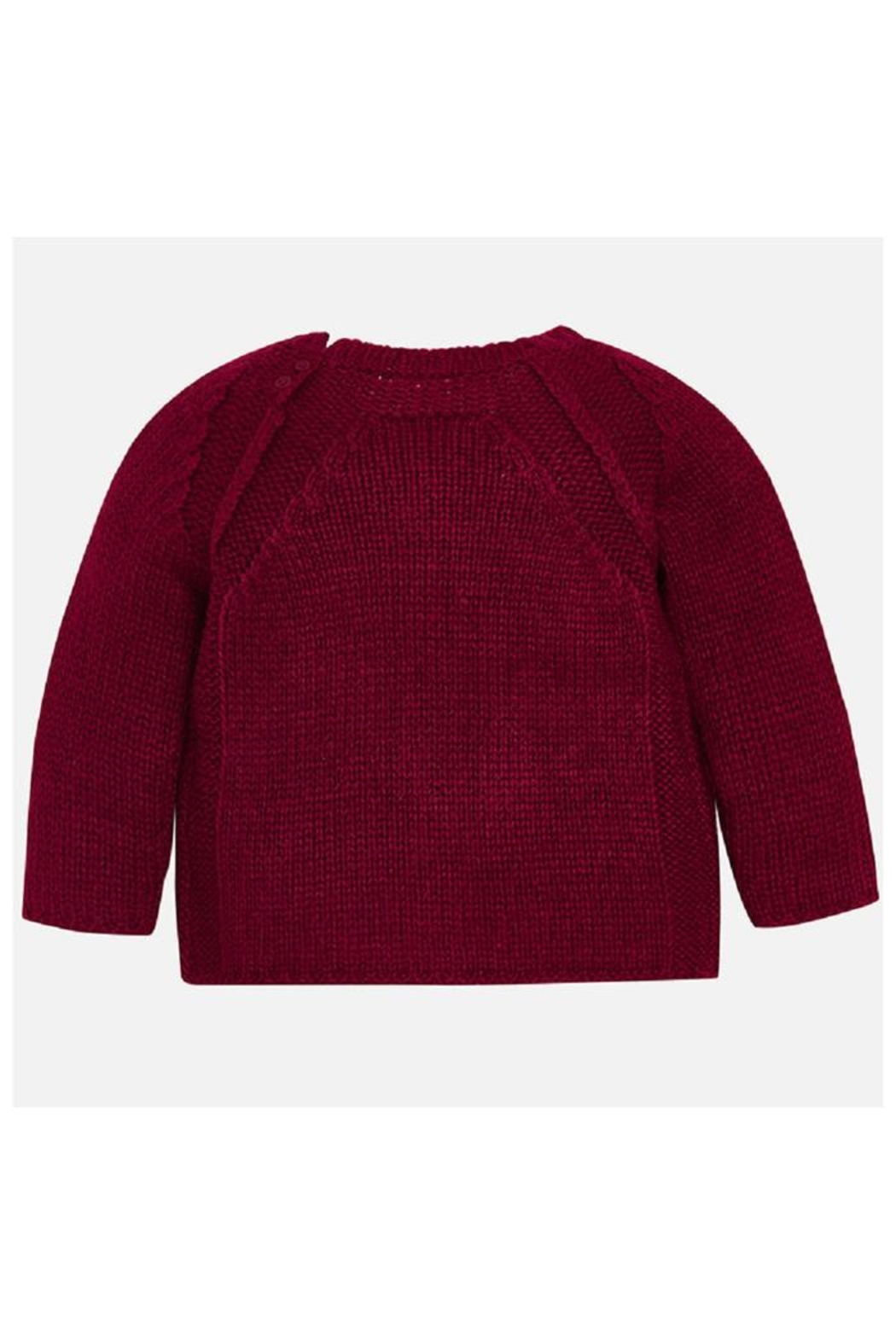 Mayoral Raspberry Knit Sweater - Front Full Image