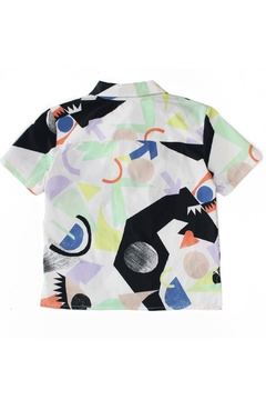 Raspberry Plum Pier Abstract Shirt - Alternate List Image