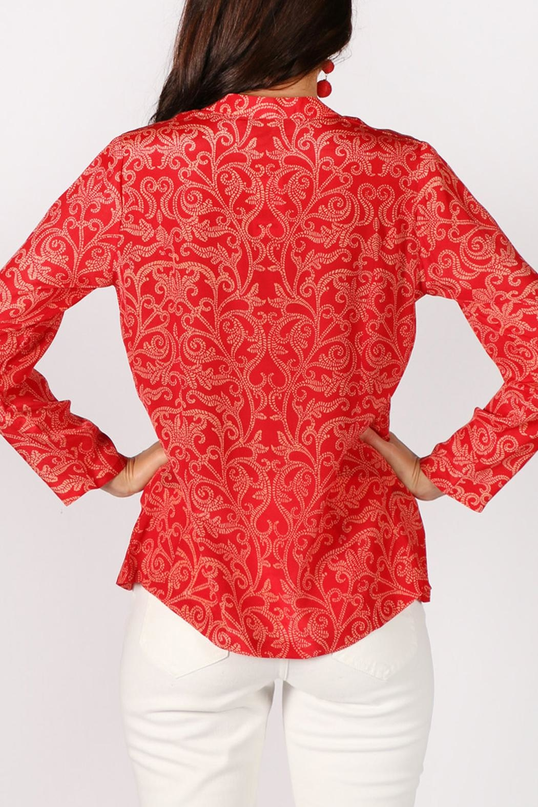 Rasa Rathore Crackle Top - Back Cropped Image