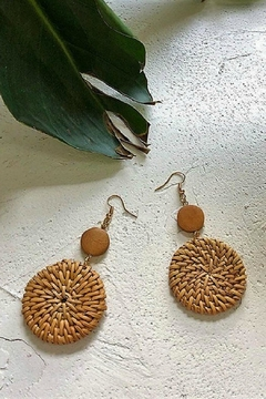 Mimi's Gift Gallery Rattan 2-Circles Earrings - Alternate List Image