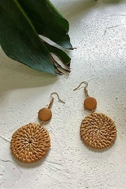 Mimi's Gift Gallery Rattan 2-Circles Earrings - Product Mini Image