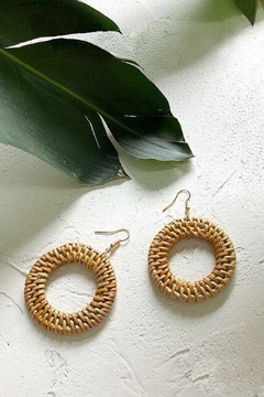 Mimi's Gift Gallery Rattan Circle Earrings - Product List Image