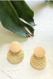 Mimi's Gift Gallery Rattan Circles Earrings - Front cropped
