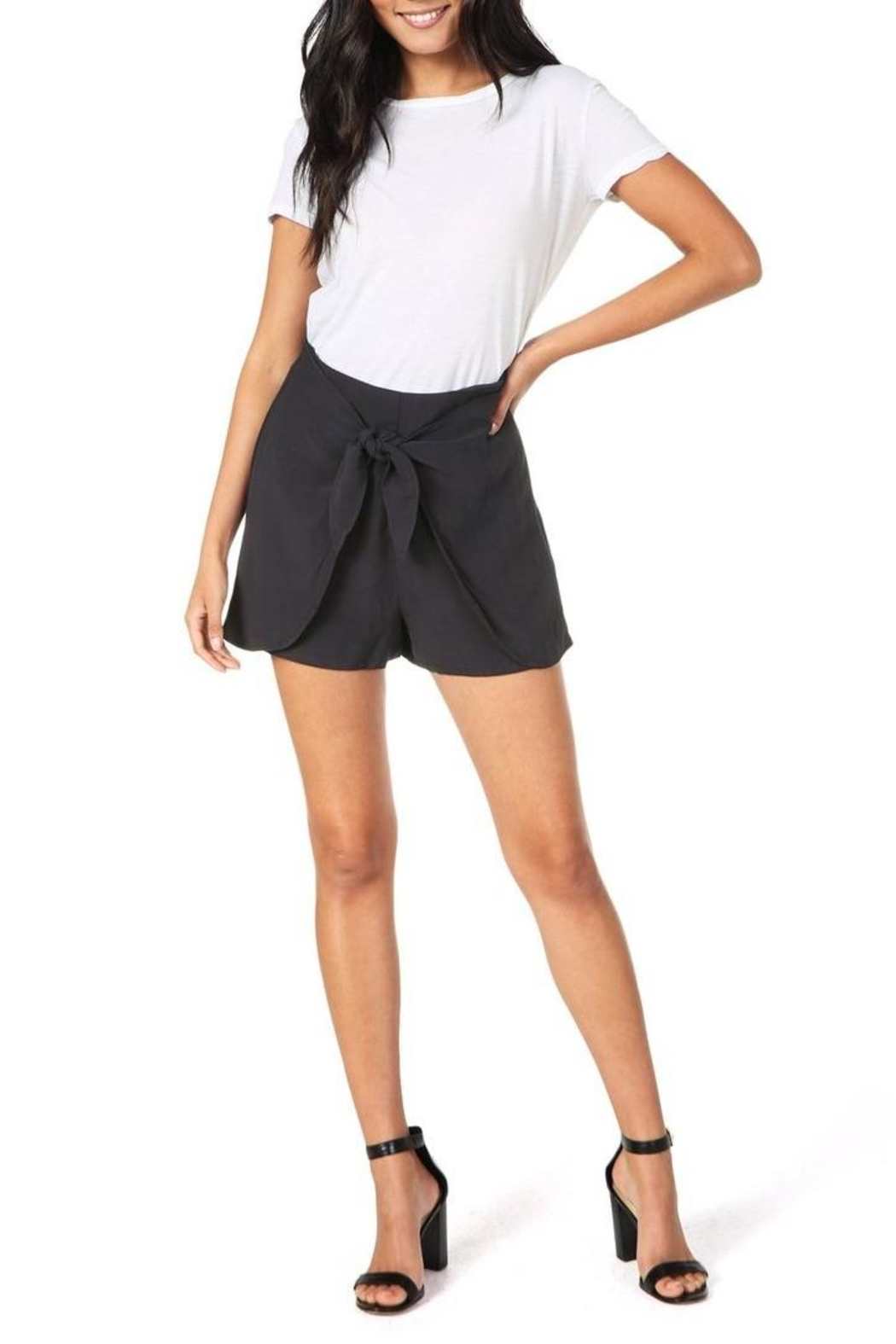 Cupcakes & Cashmere Raven Midnight Shorts - Front Full Image