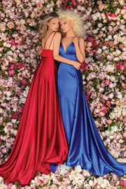 CLARISSE Ravishing Red Gown - Product Mini Image