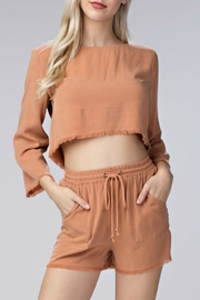 Honey Punch Raw Edge Crop Top - Product Mini Image