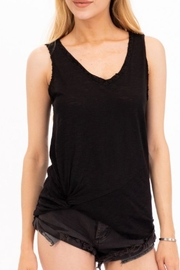 Olivaceous Raw-Edge Distressed Tank - Product Mini Image