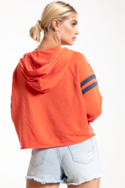 Others Follow  Raw Edge East Hoodie - Back cropped