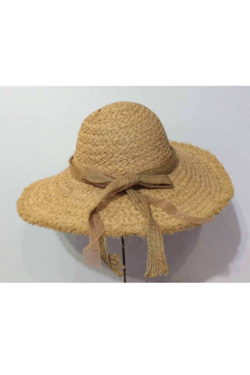 Cloie Raw Edge Raffia Sun Hat - Main Image