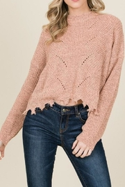 annabelle Raw-Edge Ripped Sweater - Product Mini Image