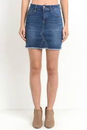 C'Est Toi Raw-Hem Denim Skirt - Product Mini Image