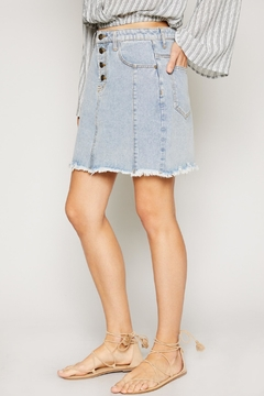 Sadie & Sage Raw-Hem Denim Skirt - Product List Image