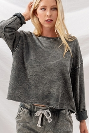 Trend Notes  Raw Hem LS Tee - Front cropped
