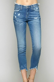 Flying Monkey Distressed Crop Denim - Front cropped