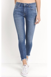 just black Raw Hem Skinnies - Front cropped