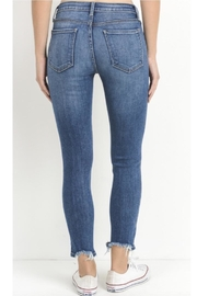 just black Raw Hem Skinnies - Front full body