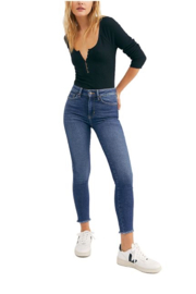 Free People Raw High-Rise Jegging - Front cropped