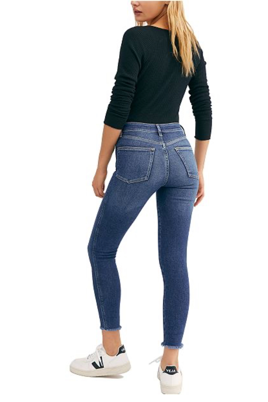 Free People Raw High-Rise Jegging - Front Full Image