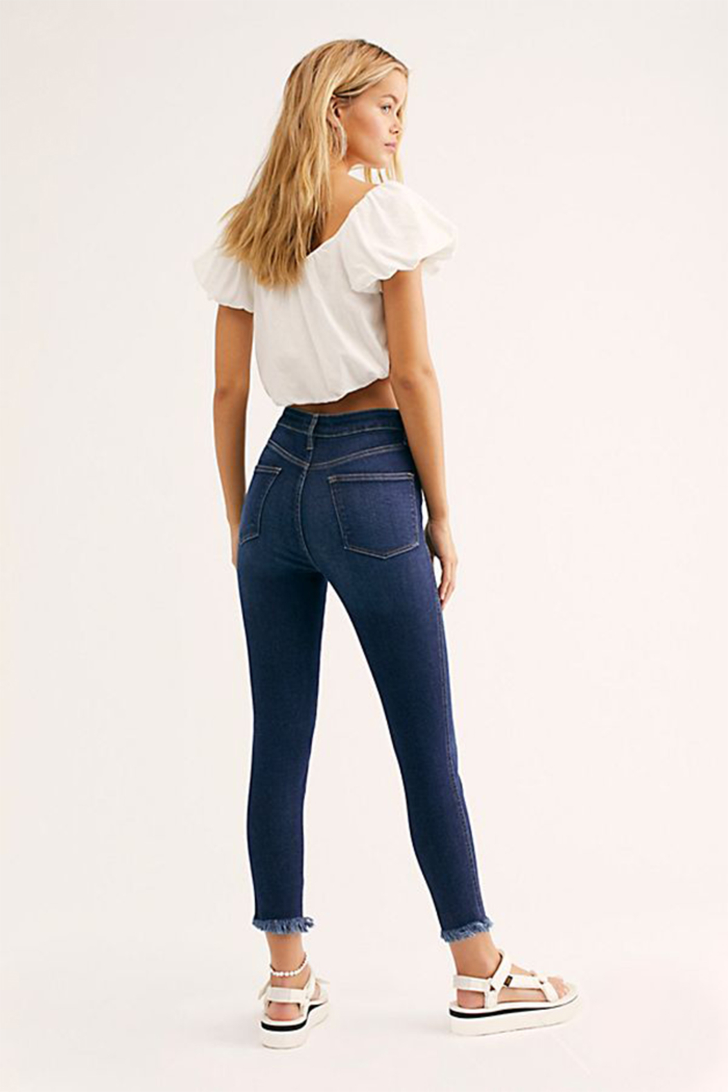 Free People Raw High Rise Jegging - Side Cropped Image