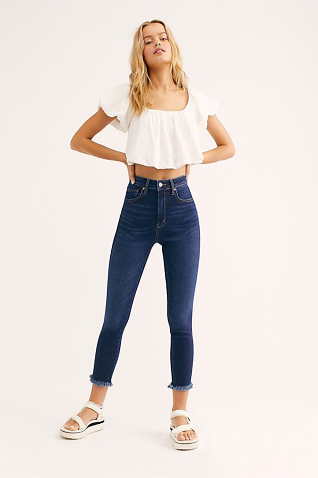 Free People Raw High Rise Jegging - Front Full Image