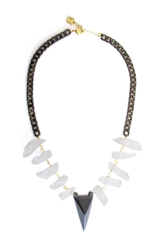 Malia Jewelry Raw-Quartz Peak Necklace - Alternate List Image
