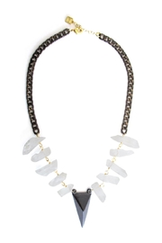 Malia Jewelry Raw-Quartz Peak Necklace - Product Mini Image