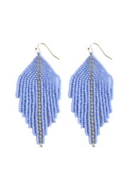 Fosterie  Raya Beaded Earrings Light Blue - Product Mini Image