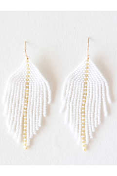 Fosterie  Raya Beaded Earrings White - Product List Image