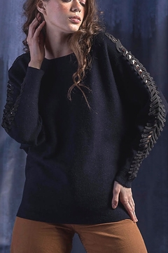 Maude Rayna Dolman & Lace Sleeve Sweater - Product List Image
