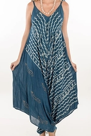 KIMBALS RAYON PRINT JUMPER - Blue/White - Front cropped