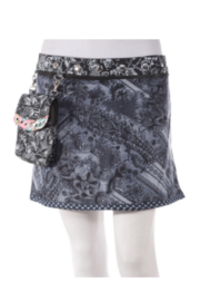 "IBIZA Rayon Reversible Skirt with Detachable Pouch (sizes 0-12 and 14"" in length) - Product Mini Image"