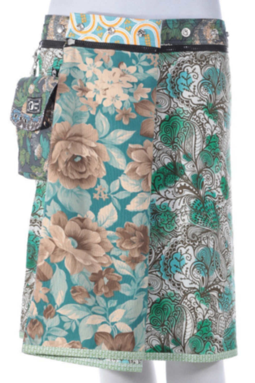 IBIZA Rayon Reversible Skirt with Detachable Pouch (sizes 0-12 and 21-22