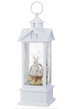 Shoptiques Product: Bunnies In Basket Water Lantern
