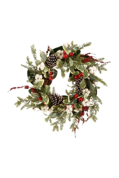 Raz Cotton Pine Wreath - Alternate List Image
