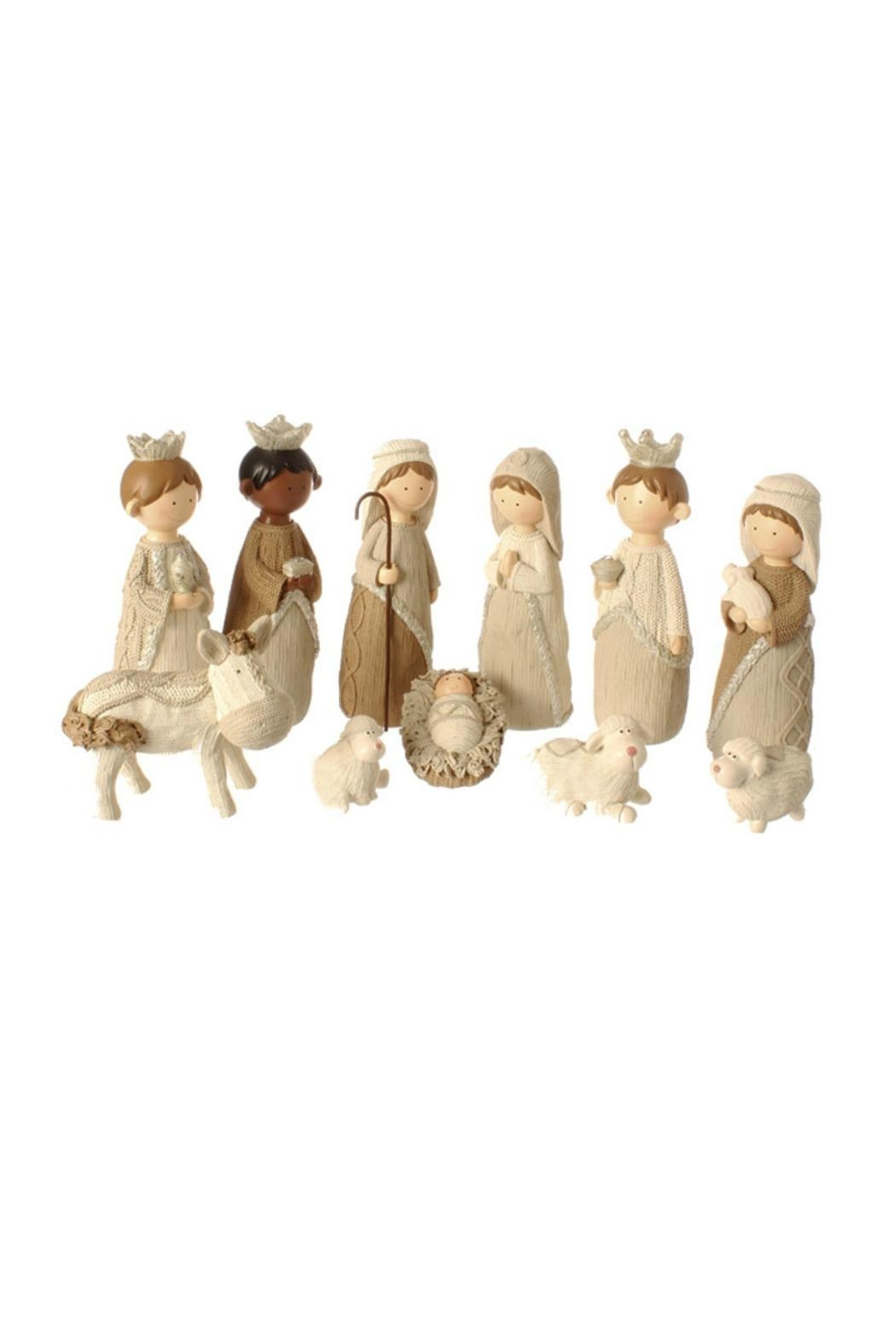 Raz Faux Knit Nativity Set - Front Cropped Image