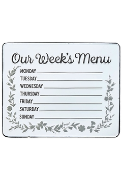 Shoptiques Product: Menu Wall Sign