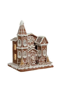 RAZ Imports Cream Gingerbread Church - Alternate List Image