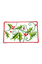 RAZ Imports Holly Platter - Front cropped