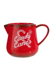 RAZ Imports Candy Cane Pitcher - Front cropped