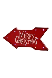 RAZ Imports Merry Chirstmas Sign - Front cropped