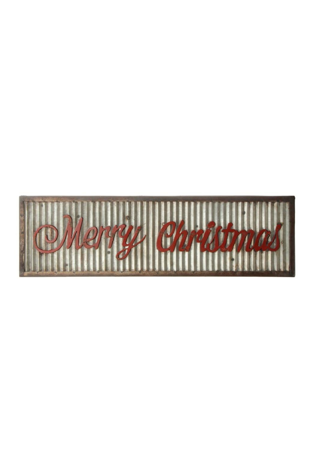 RAZ Imports Merry Christmas Sign - Front Cropped Image
