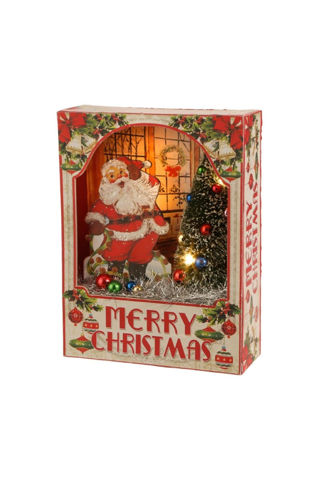 RAZ Imports Santa Lighted Shadowbox - Main Image