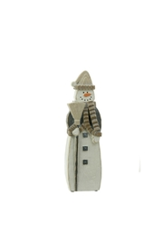 RAZ Imports Snowman Figurine - Front cropped