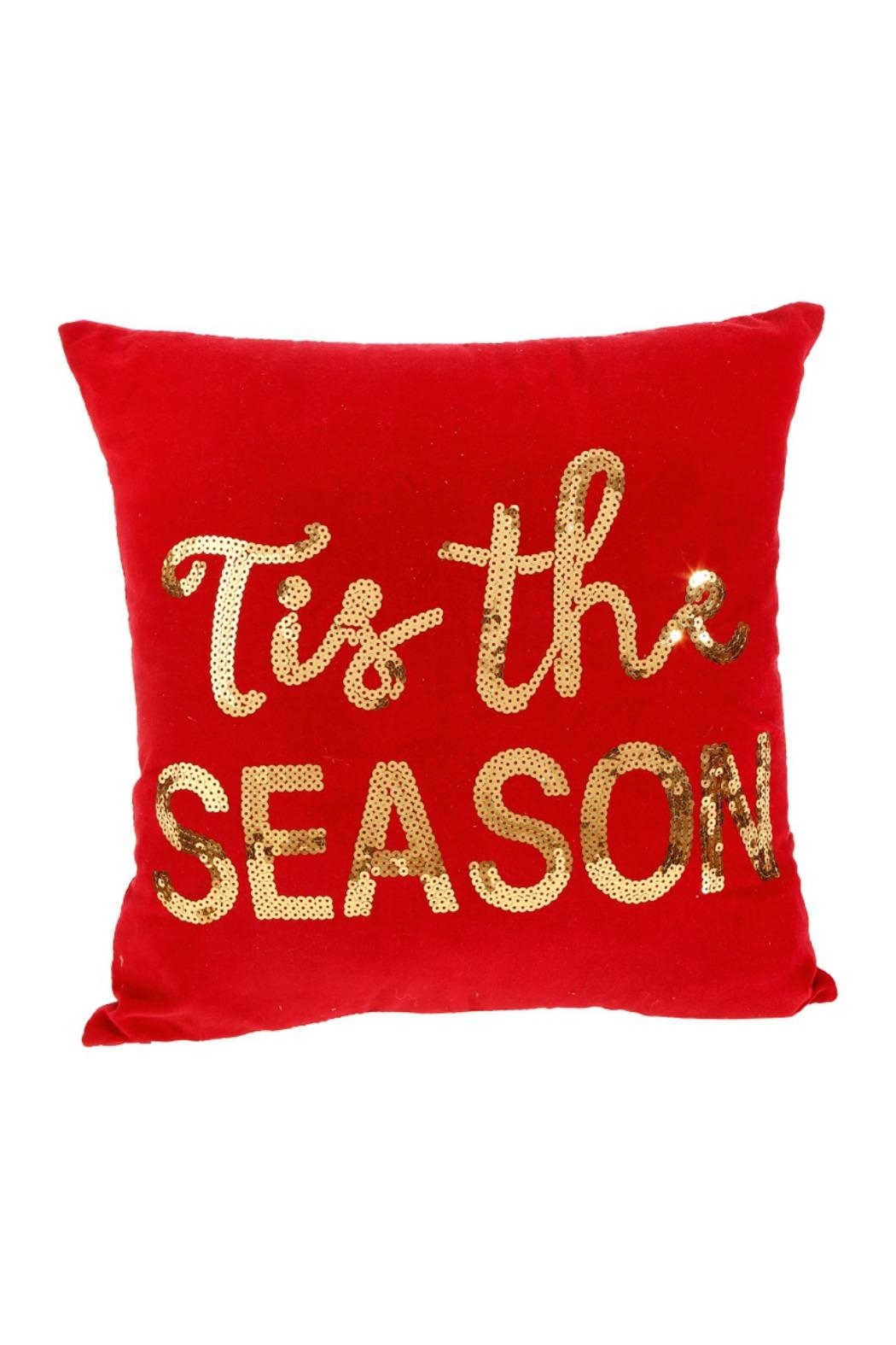 RAZ Imports Tis The Season Pillow - Front Cropped Image
