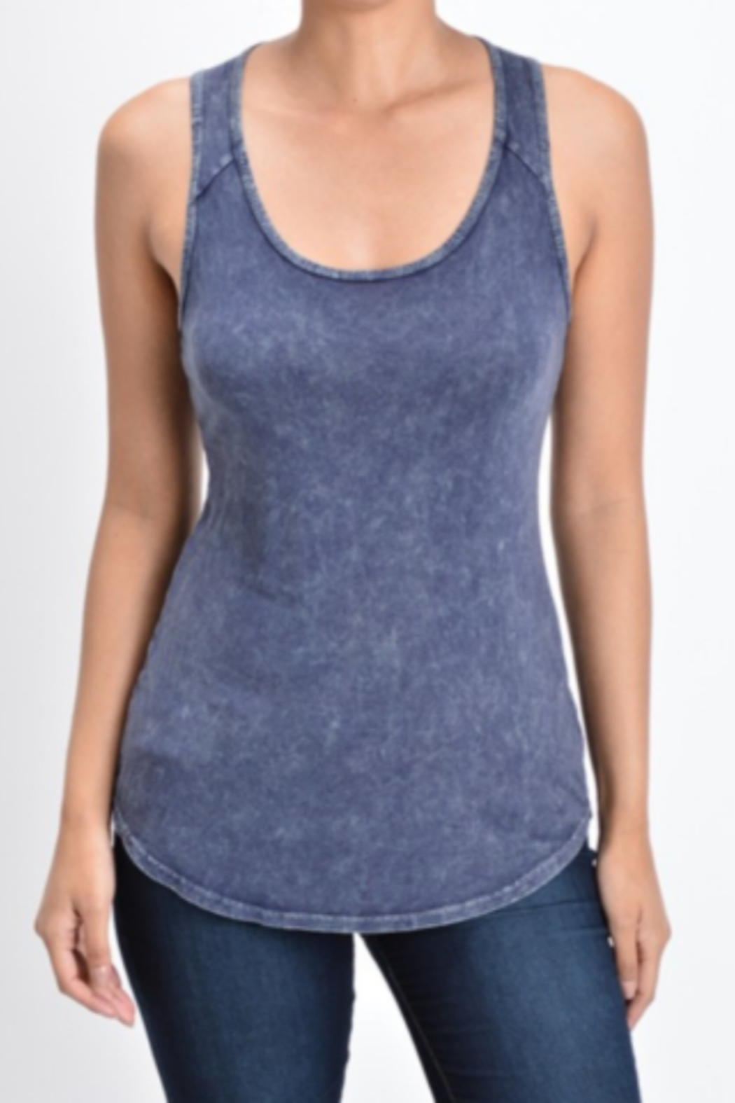 T Party Razor-cut Tank Top - Front Cropped Image