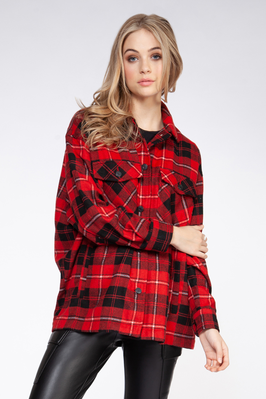 Dex RB Plaid Jacket - Front Cropped Image