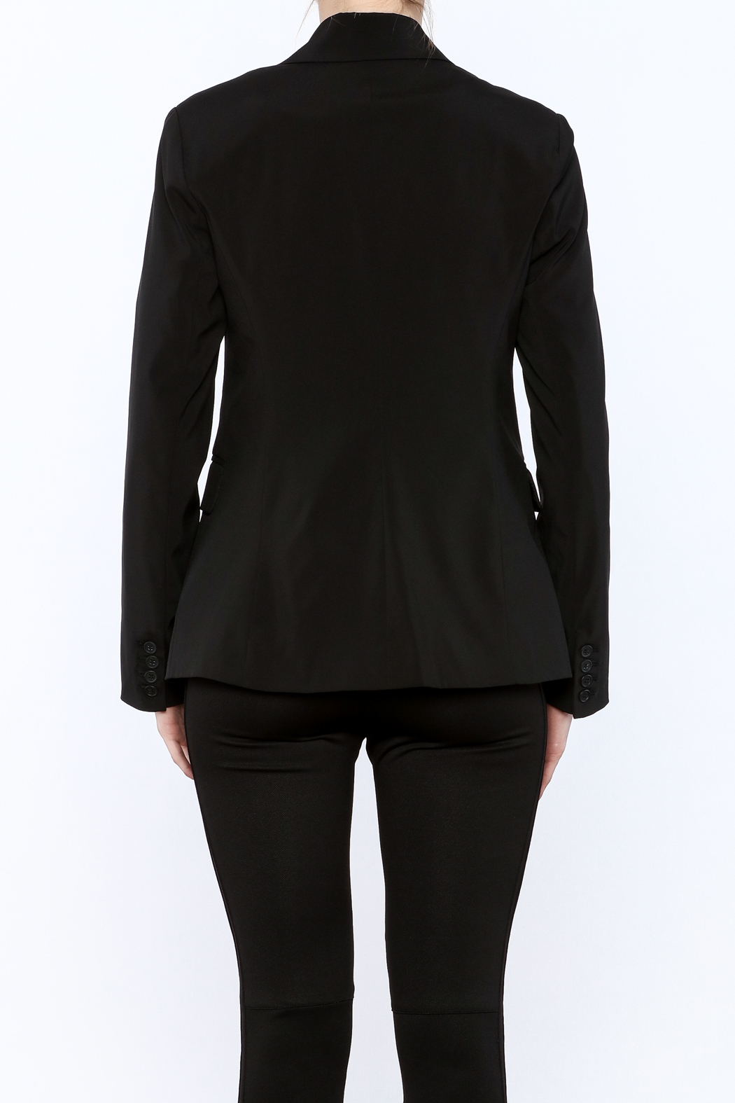 RD Style Cable Insert Blazer - Back Cropped Image